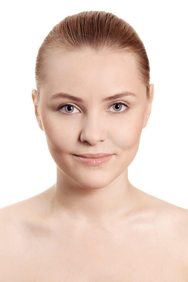 Download Gesicht Der Schönen Frau Mit Sauberer Haut Stockbild - Bild von entblößt, kosmetik: 26373729