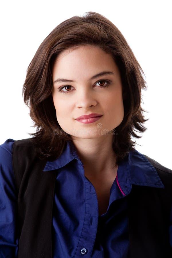 Gesicht der schönen Geschäftsfrau stockfotos