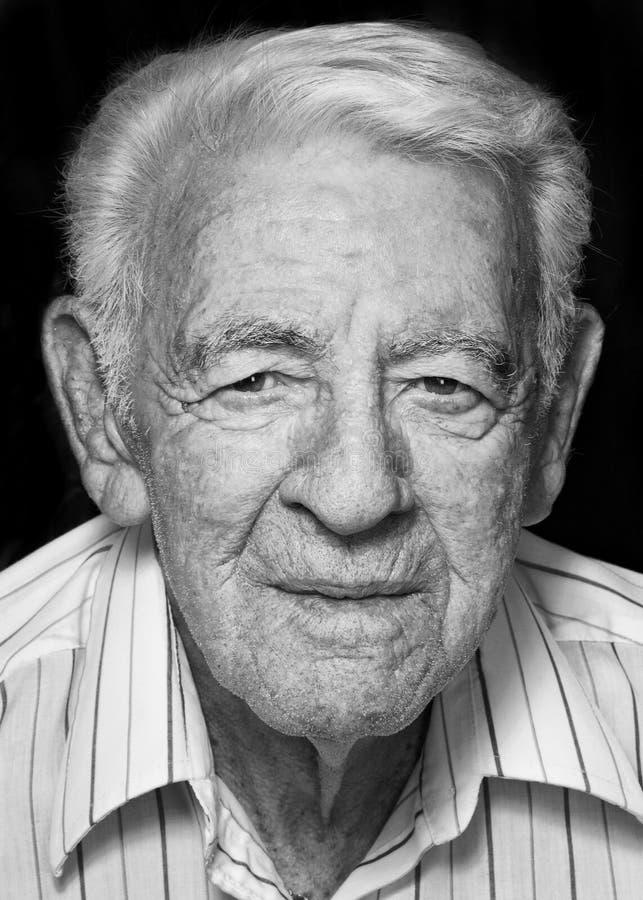 Gesicht des alten Mannes stockbild