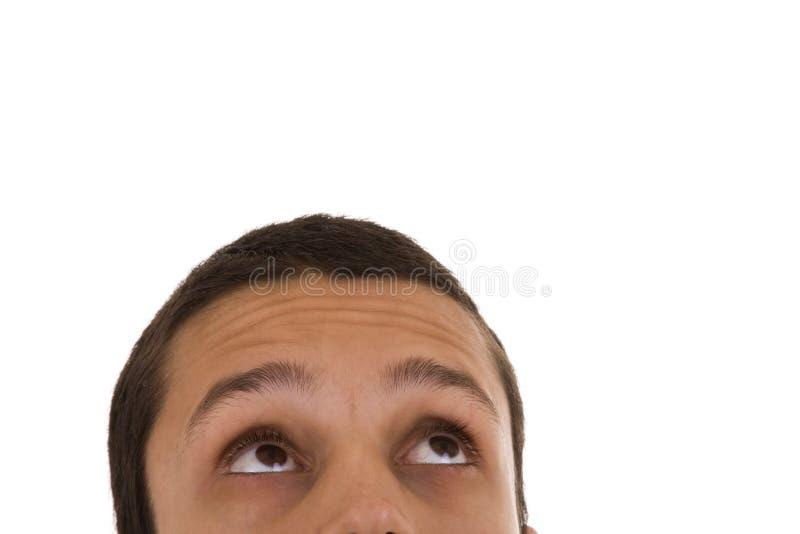 Gesicht des jungen Mannes stockbilder