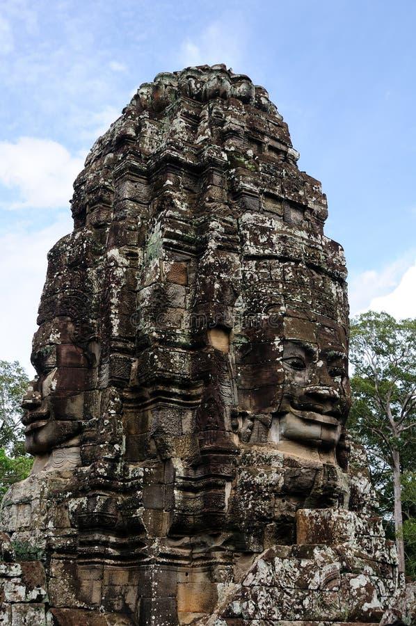 Gesicht des kambodschanischen Königs stockfoto
