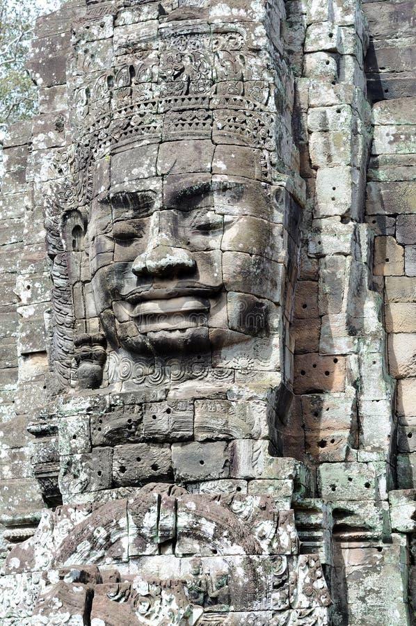 Gesicht des kambodschanischen Königs lizenzfreie stockbilder