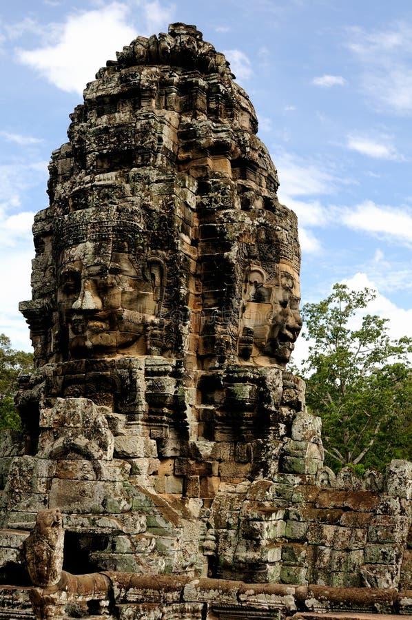Gesicht des kambodschanischen Königs stockfotografie