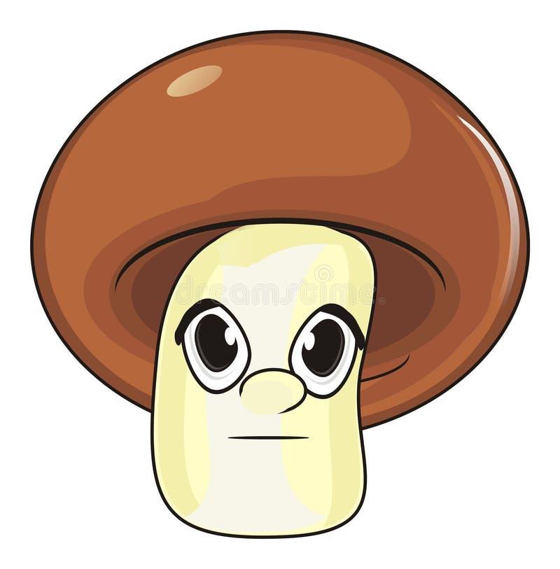 Download Gesicht des Pilzes stock abbildung. Illustration von gemüse - 90227066