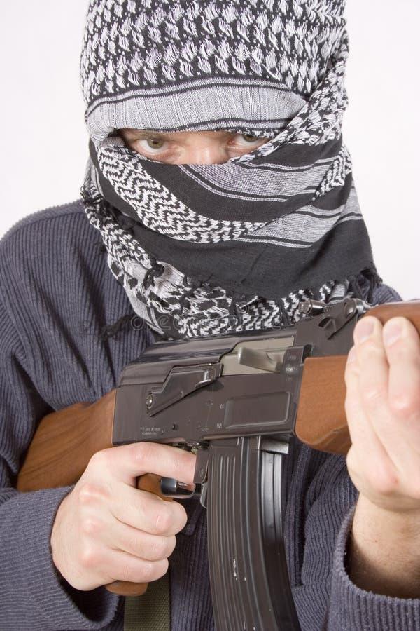 Gesicht Des Realistischen Terroristen Lizenzfreie Stockfotos