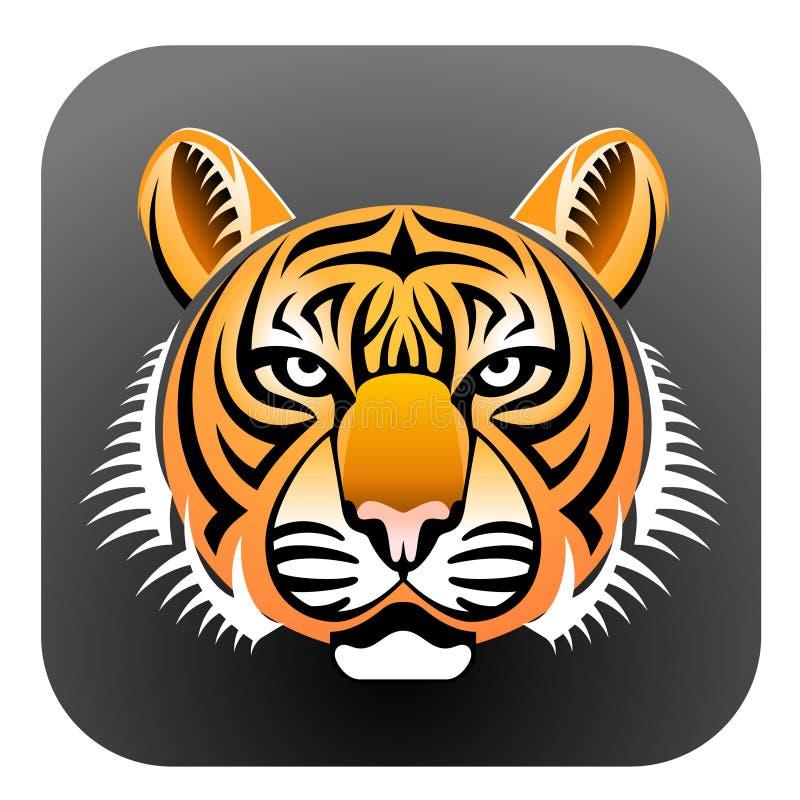 Gesicht des realistischen Tigers lizenzfreie abbildung