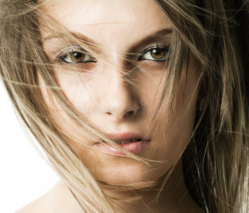 Gesicht des recht jungen Mädchens lizenzfreie stockbilder