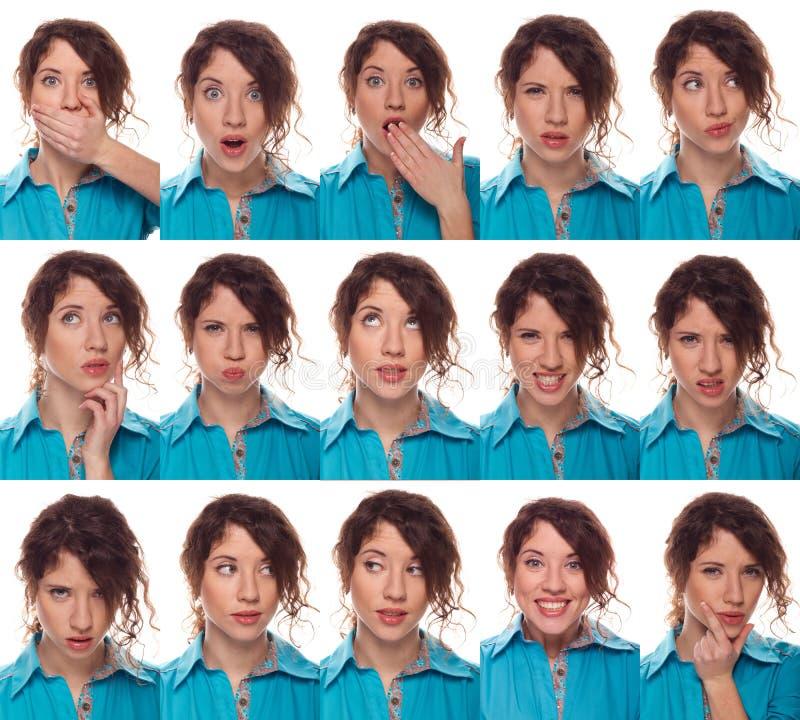 Gesicht des Schauspielers, eine Kompilation von Gefühlen stockfotos