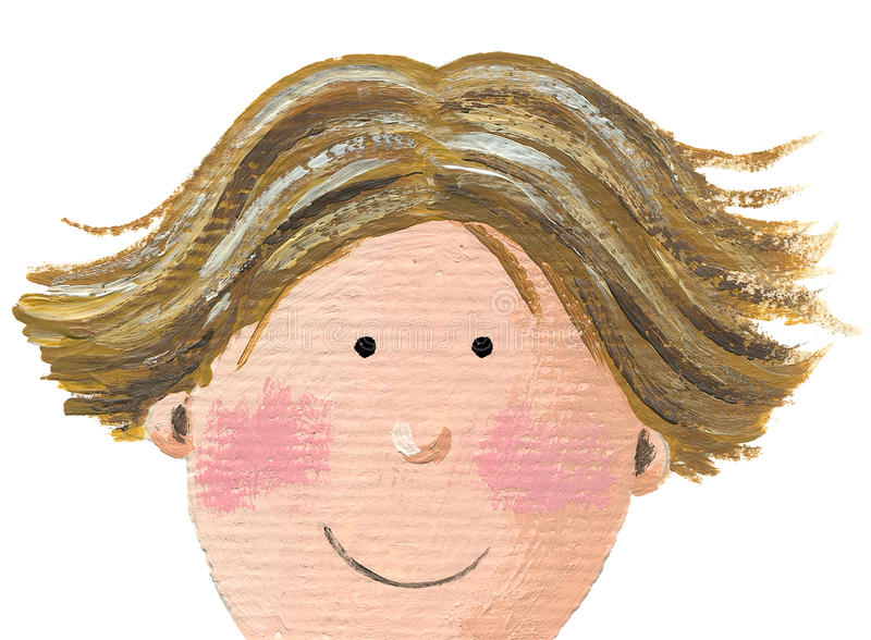 Gesicht eines Jungen stock abbildung