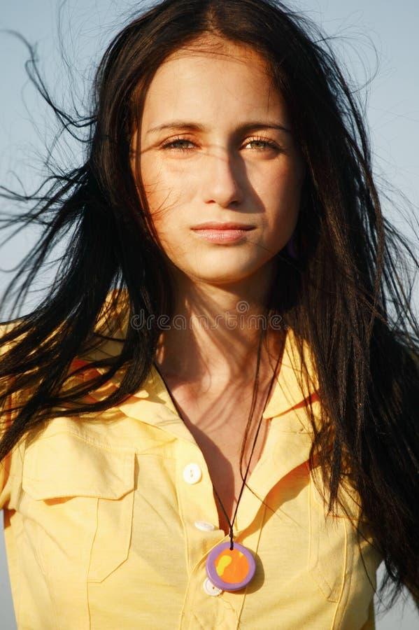 Gesicht eines jungen Mädchens lizenzfreie stockfotografie