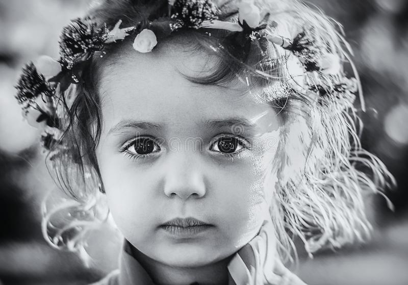 Gesicht, Fotografie, Schwarzweiss, Person stockbild