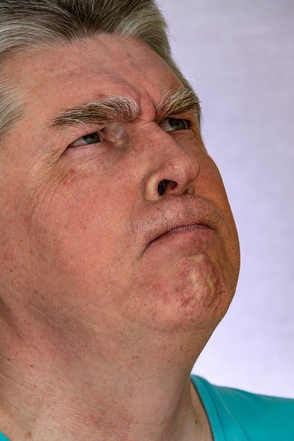 Gesicht, Gesichtsausdr?cke, Gef?hle, Gef?hle, Selbstportr?t lizenzfreie stockfotos