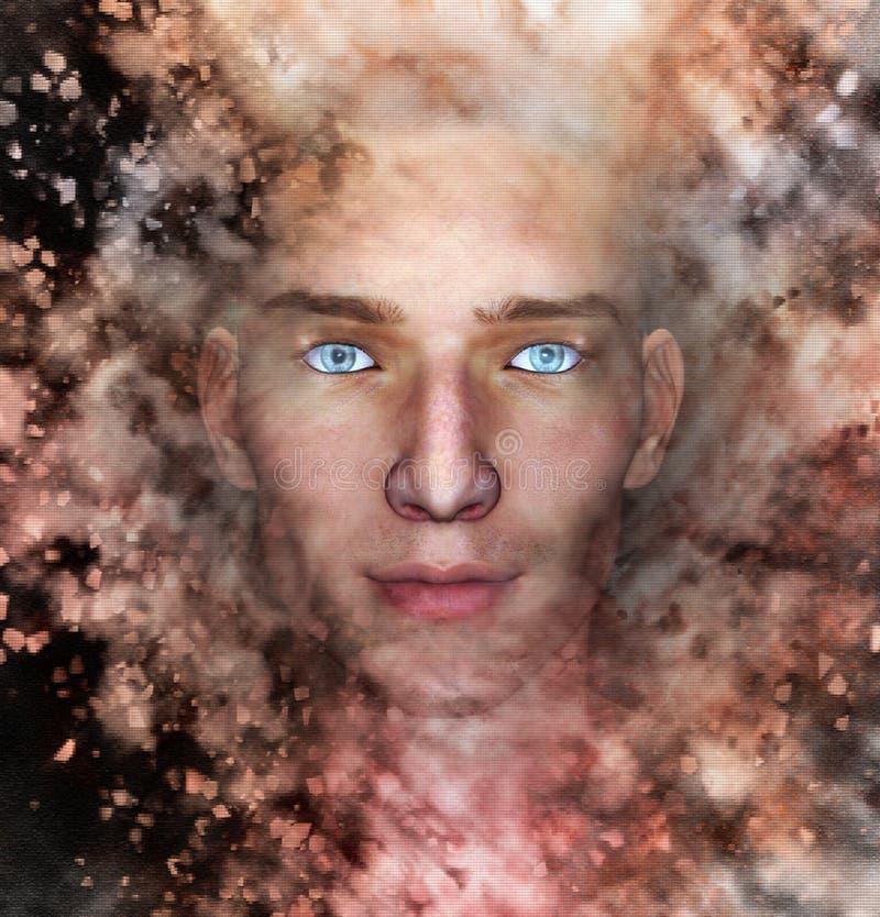 Gesicht im cosmo stock abbildung