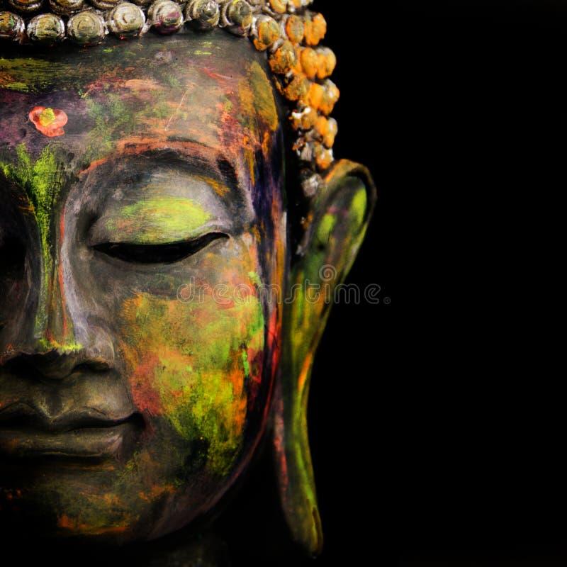 Gesicht von Buddha lizenzfreie stockfotos