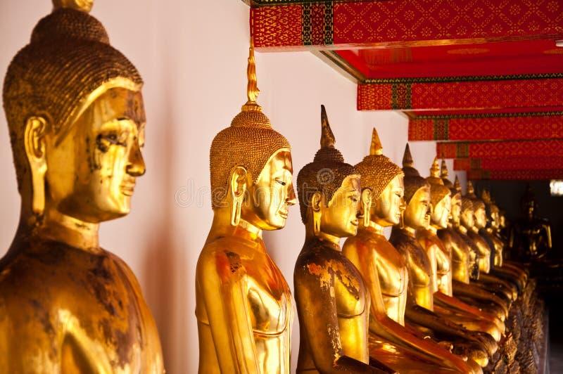 Gesicht von Buddha in Wat Pho stockbild