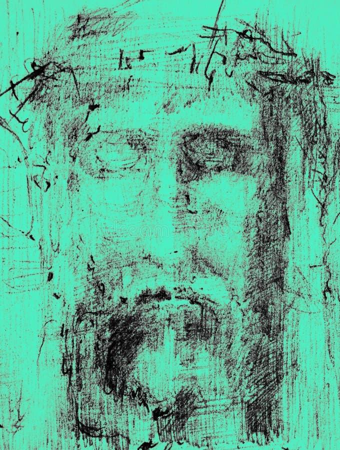 Gesicht von Christ lizenzfreie stockfotografie