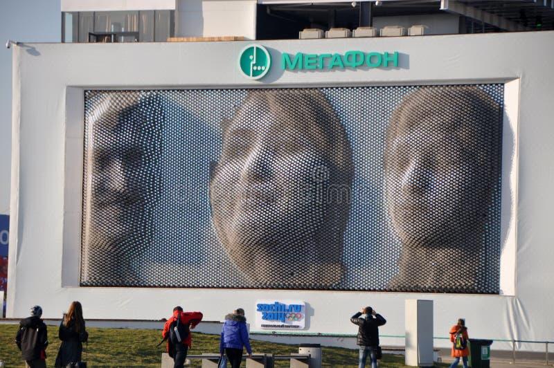 Gesichter überwachen bei XXII Winterolympiade Sochi stockfotografie