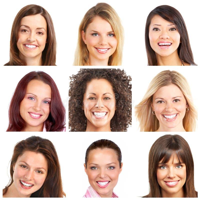 Gesichter, Lächeln und Zähne lizenzfreie stockfotos