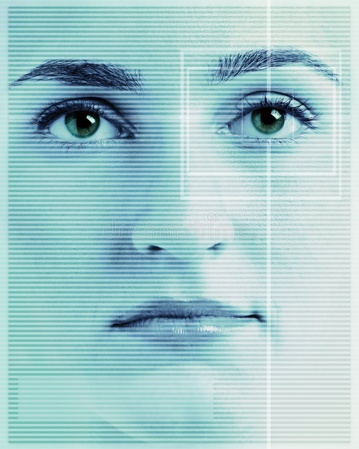 Gesichts-Augen-Scan stockfoto