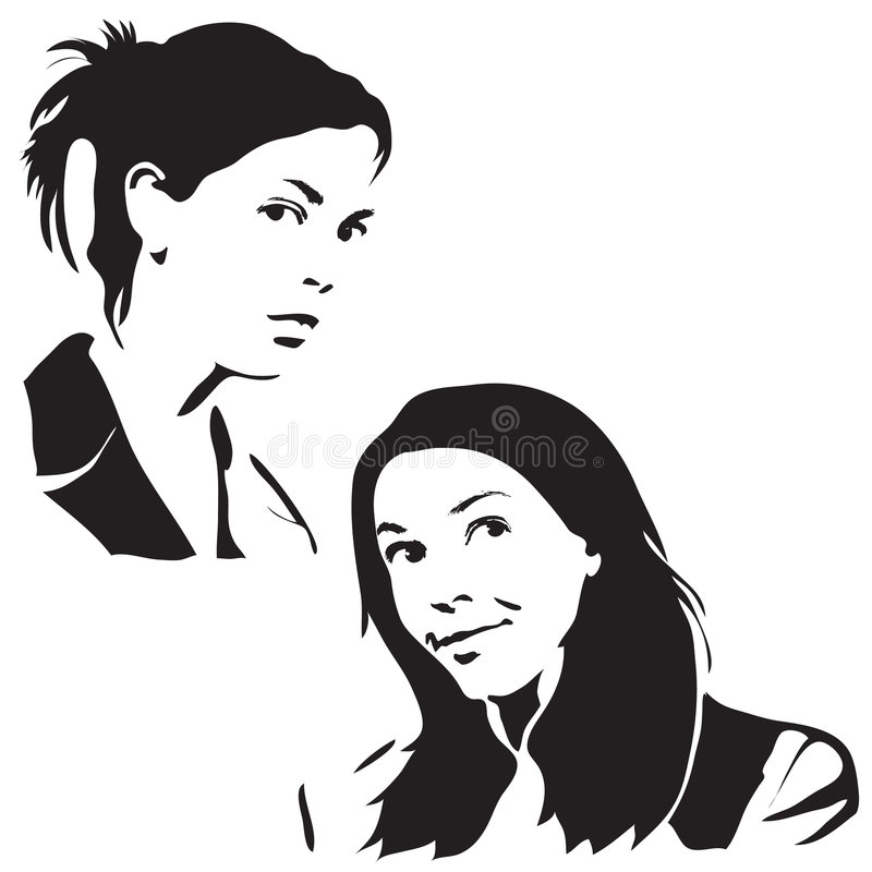 Gesichts-Schattenbilder stock abbildung