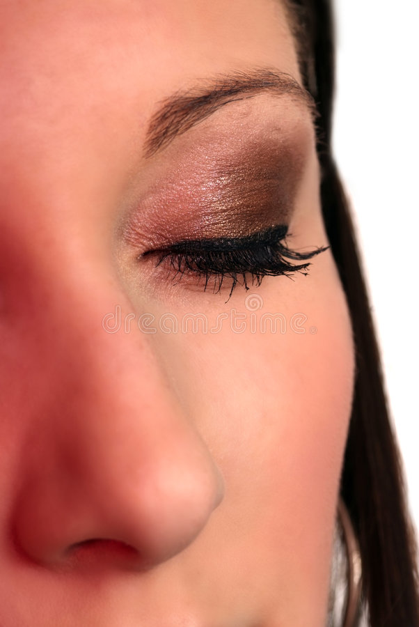 Gesichtsaugenwekzeugspritze stockfoto