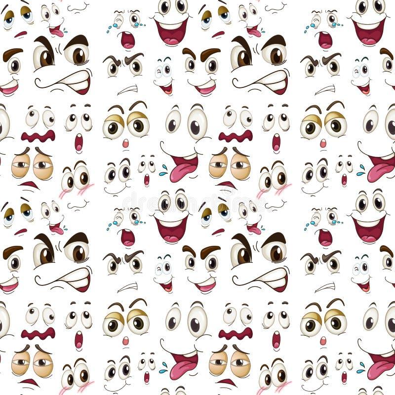 Gesichtsausdrücke vektor abbildung