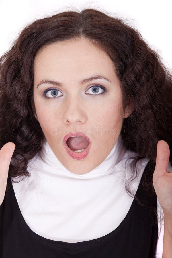 Gesichtsausdruck - Überraschung lizenzfreie stockfotografie
