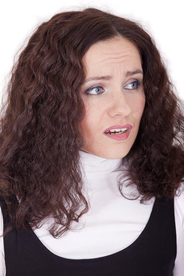 Gesichtsausdruck - Traurigkeit lizenzfreie stockfotografie