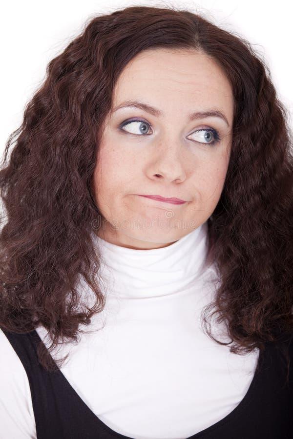 Gesichtsausdruck - Traurigkeit stockfoto