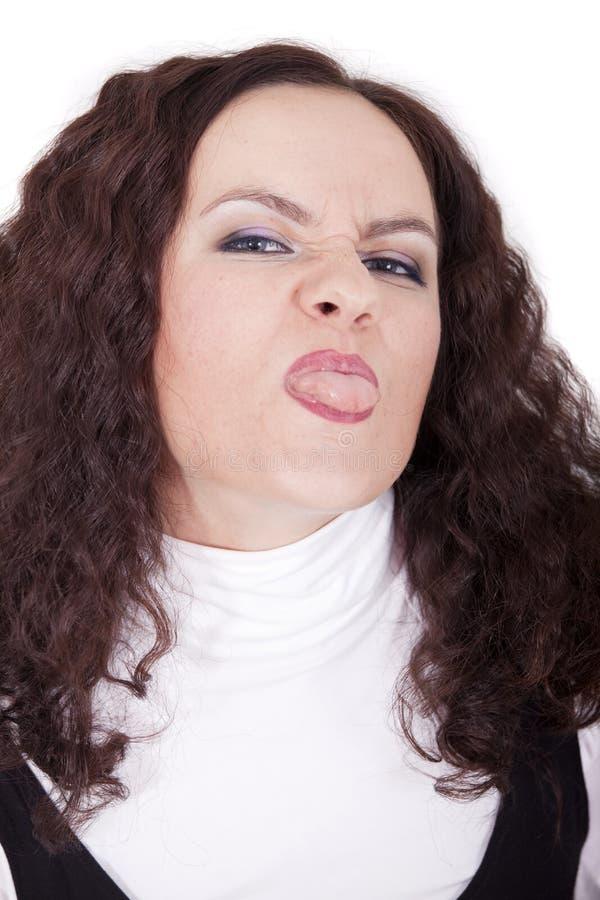 Gesichtsausdruck - Unzufriedenheit stockfotografie