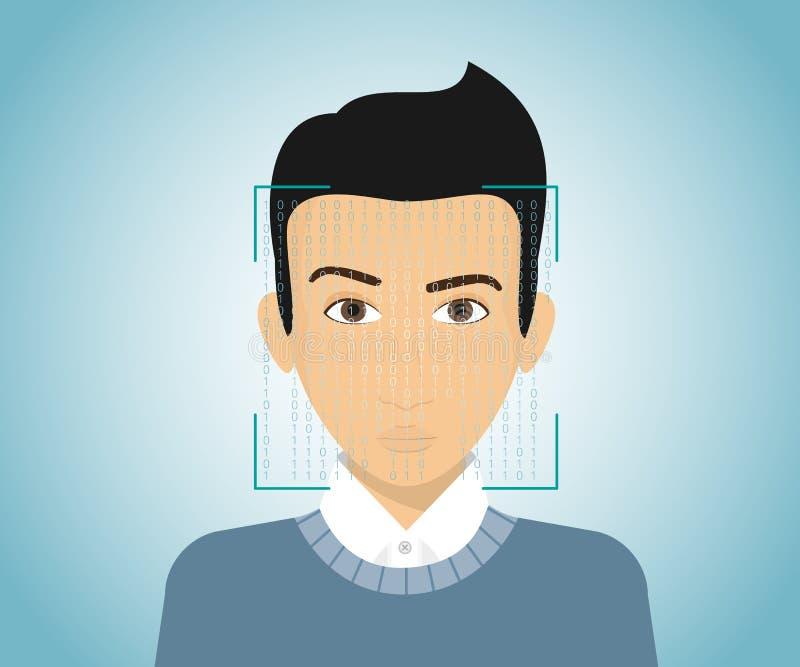 Gesichtsidentifizierung stock abbildung