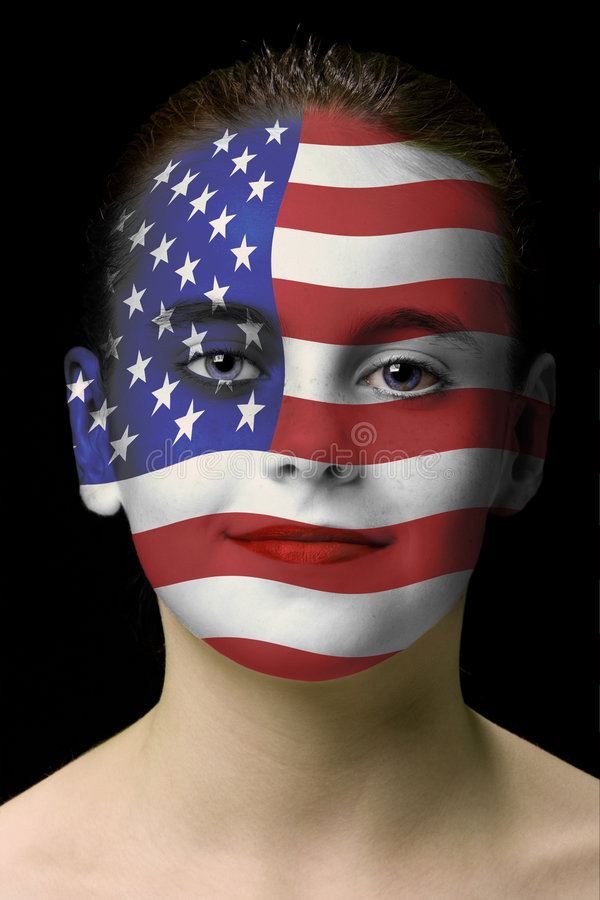 Gesichtslack: amerikanische Flagge stockfotografie