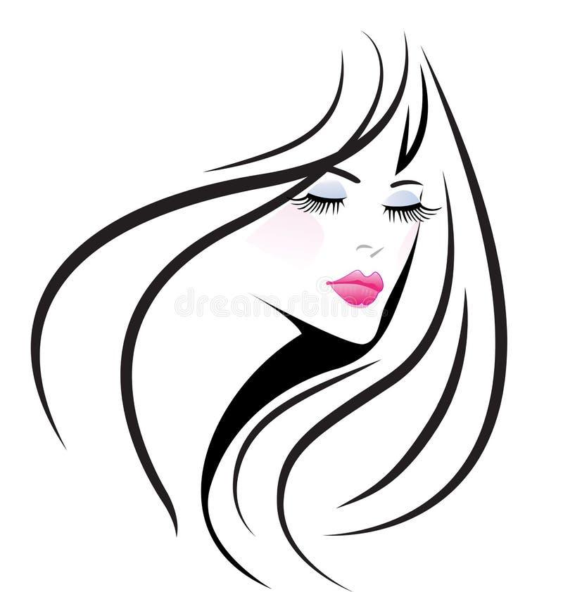 Gesichtsmädchenfrau vektor abbildung