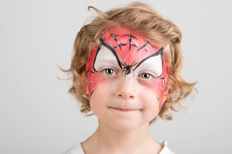 Gesichtsmalerei, Spinnennetz stockbilder