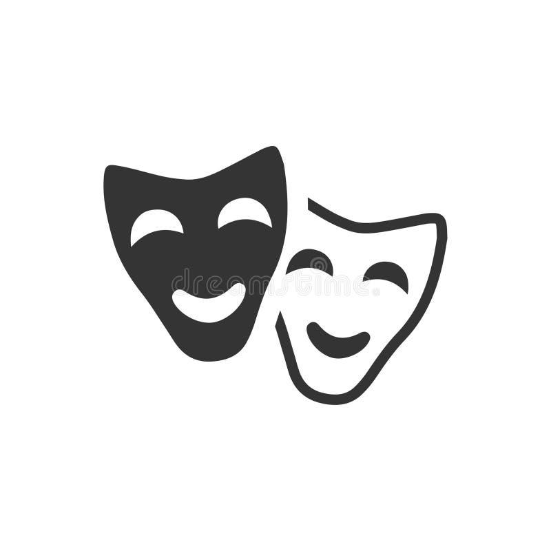 Gesichtsmaske-Ikone stock abbildung
