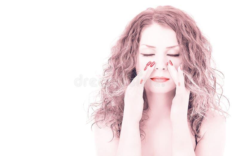 Gesichtsmassage lizenzfreies stockbild