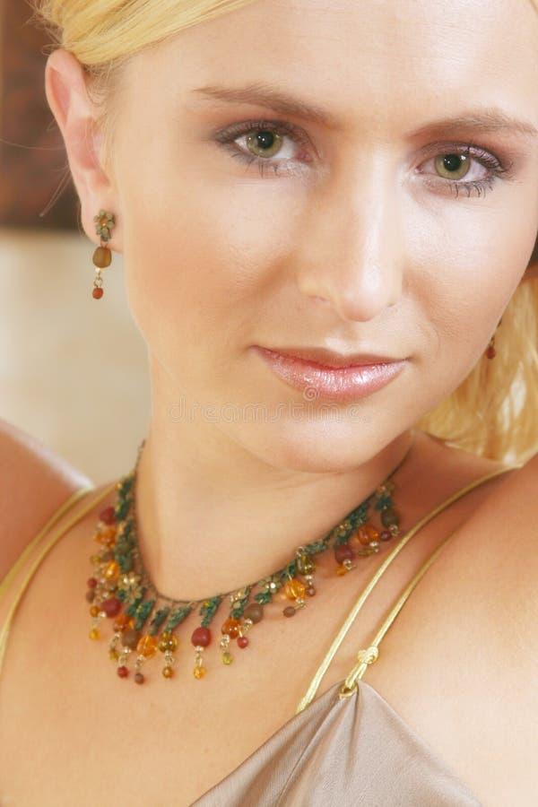Gesichtsnahaufnahme Der Weichen Frau Lizenzfreie Stockfotografie