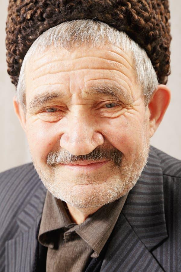 Gesichtsportrait des älteren Mannes lizenzfreie stockbilder
