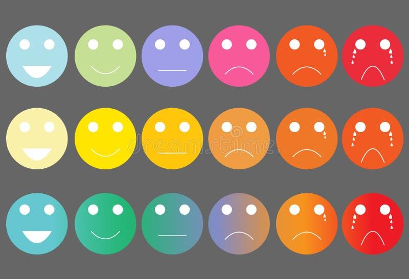 Gesichtsschmerz-Schätzskala lizenzfreie abbildung