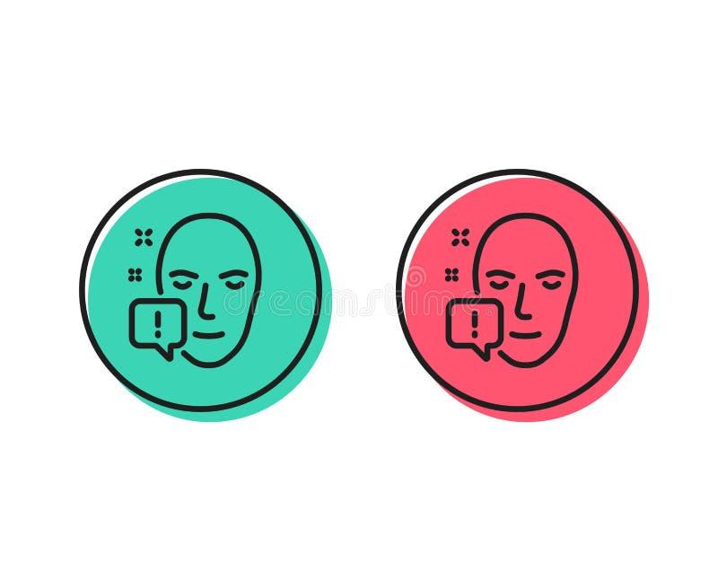 GesichtsSignalleitung Ikone Ausrufezeichenzeichen Vektor vektor abbildung