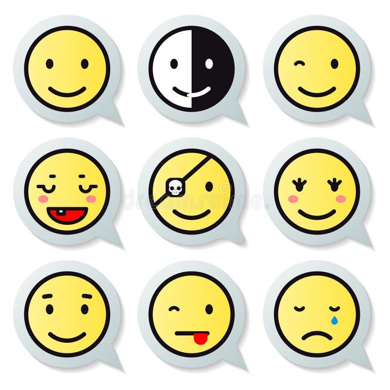 Gesichtsspracheblase des Vektors glückliche lizenzfreie abbildung