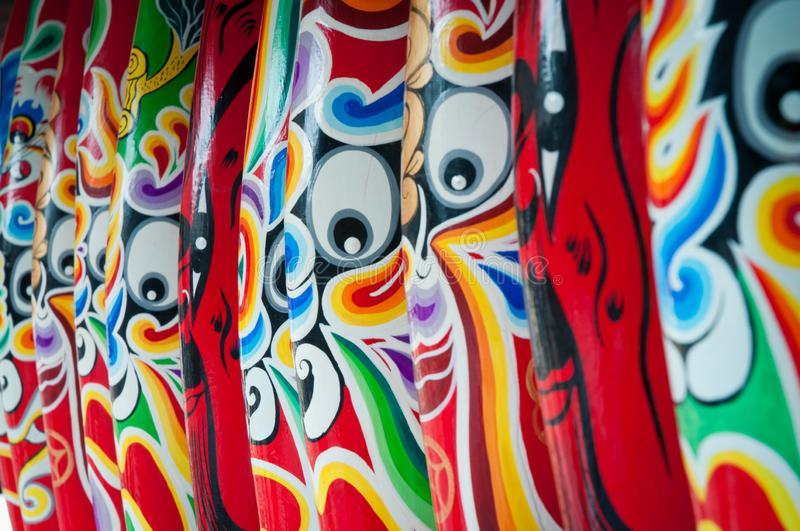 Gesichtsverfassung der Peking-Oper Das chinesische Gesichtsmake-up von Peking-Oper lizenzfreie stockbilder