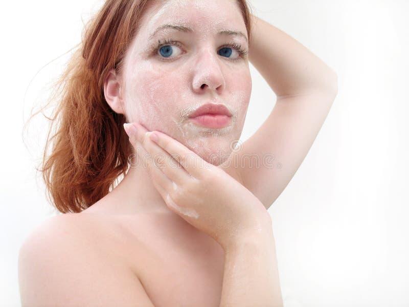 Download Gesichtswäsche 4 stockbild. Bild von latten, lippen, olive - 31799