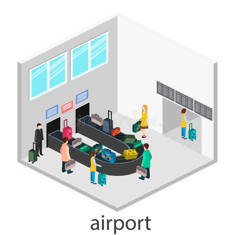 Gesign isometrico della ricevuta di bagaglio illustrazione vettoriale
