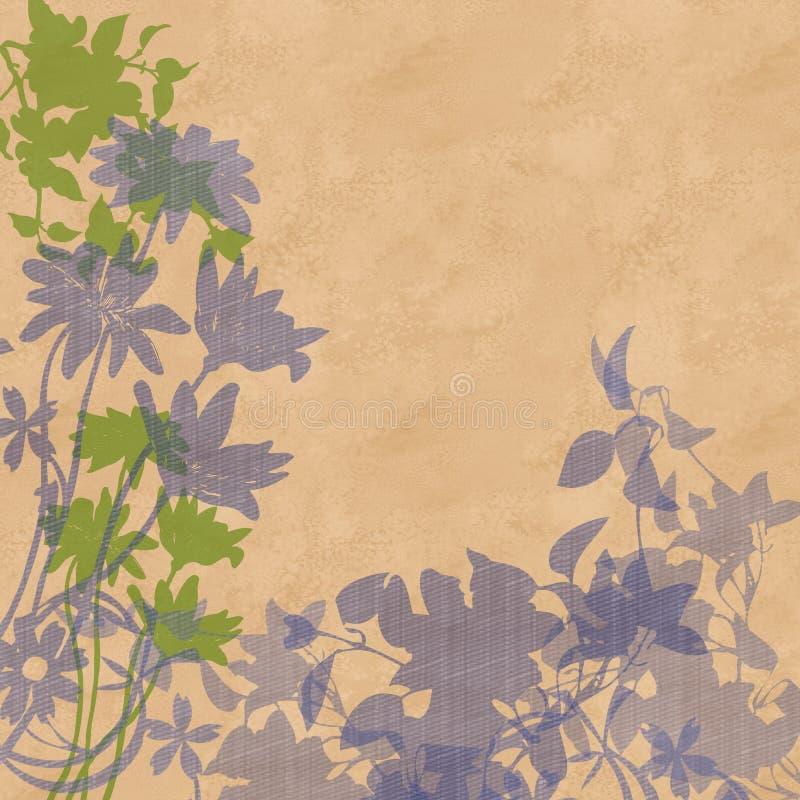 Gesilhouetteerde bloemen en bladeren royalty-vrije illustratie