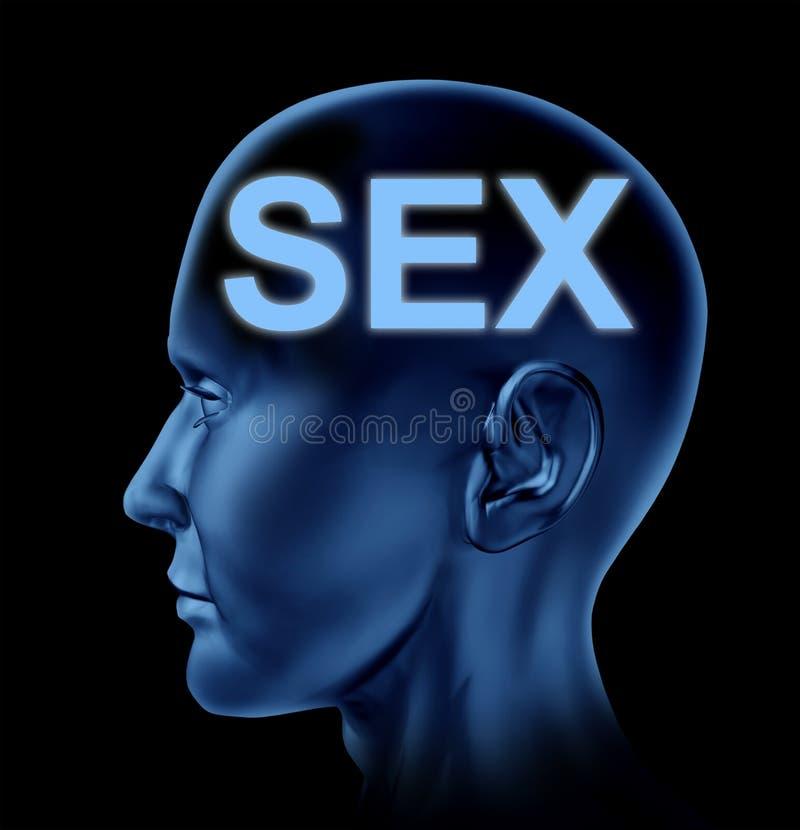 Geslacht op de hersenen stock illustratie