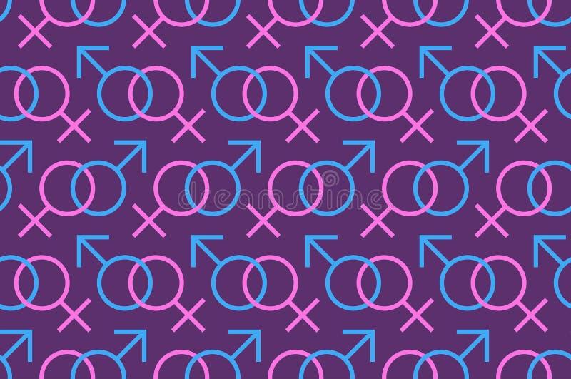 Geslachts naadloos patroon vector illustratie
