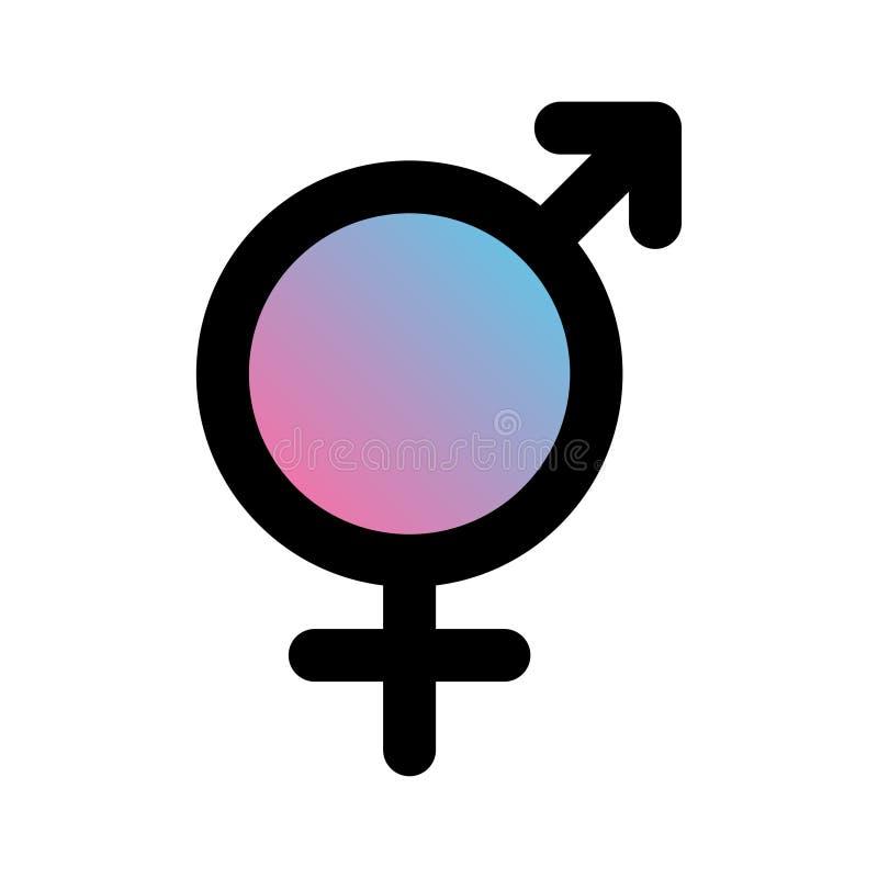 Geslachtspictogrammen Mannelijke en vrouwelijke tekens De symbolen van het geslacht vector illustratie
