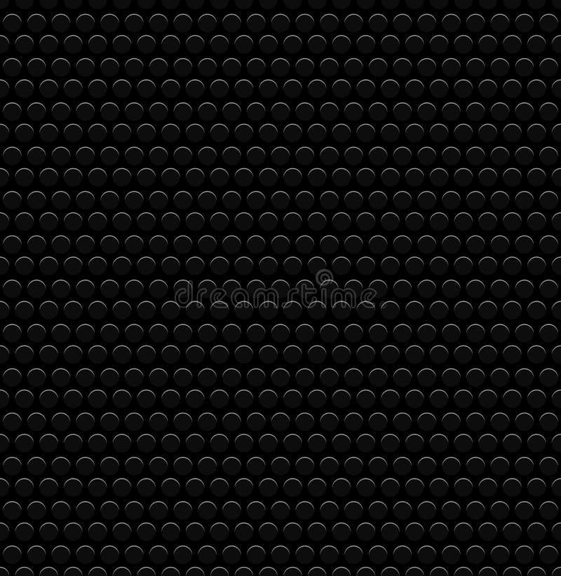 Geslagen Cirkels, Geperforeerde Achtergrond Donkere, Zwarte Koolstof als royalty-vrije illustratie