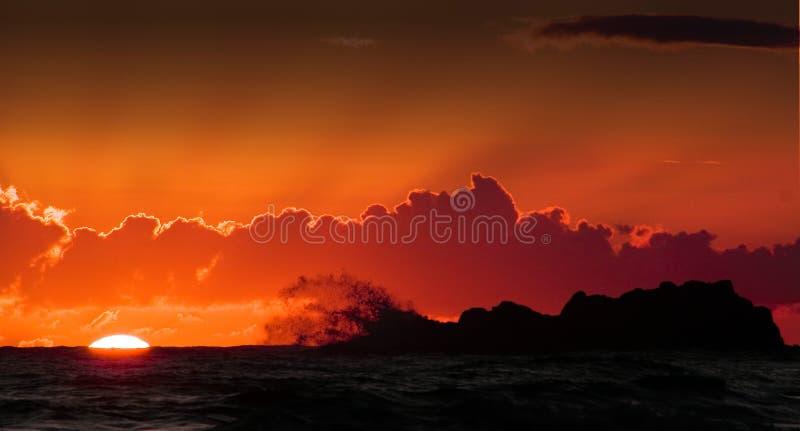Geslikt door een Golf stock afbeeldingen